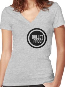 Bullet Proof Women's Fitted V-Neck T-Shirt