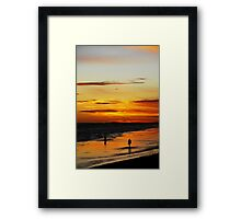 Photographers Silhouettes Framed Print