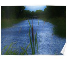 Royal Canal near Coolnahay harbour, County Westmeath Poster