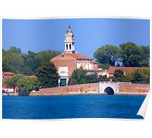 Church on the water front Venice. Poster