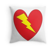 charged heart Throw Pillow