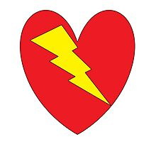 charged heart Photographic Print