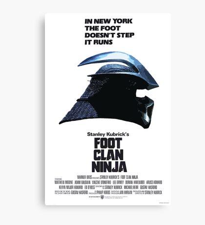 Stanley Kubrick's Foot Clan Ninja Canvas Print