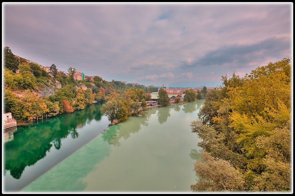 The Arve meeting the Rhône by David Freeman