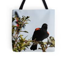 Red-Winged Blackbird Flashing the Goods Tote Bag
