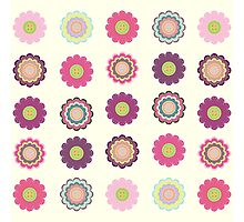 Flowers patch Photographic Print