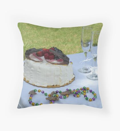 ...with just a touch of Mardi Gras Throw Pillow