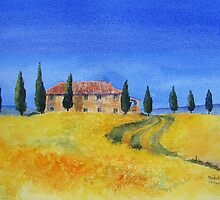 Il Cipressino Tuscany by artbyrachel
