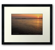 Bellport Bay Evening | Shirley, New York  Framed Print