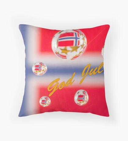 God Jul Throw Pillow