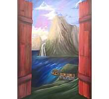 Fjord Shutters Photographic Print