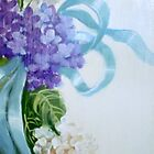 Hydrangea and Ribbons by Cathy Amendola