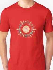 KINKY KITTY - Kinky Mandala Rainbow T-Shirt