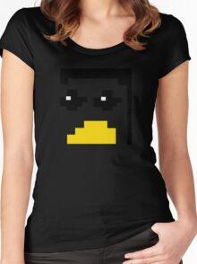 LINUX TUX PENGUIN PIXEL FACE  Women's Fitted Scoop T-Shirt