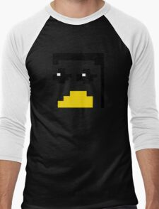 LINUX TUX PENGUIN PIXEL FACE  Men's Baseball ¾ T-Shirt