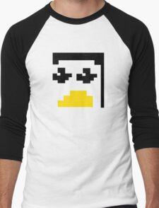 LINUX TUX PENGUIN PIXEL FACE  Men's Baseball ¾ T-Shirt