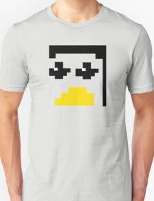LINUX TUX PENGUIN PIXEL FACE  T-Shirt