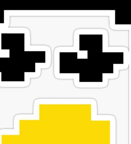 LINUX TUX PENGUIN PIXEL FACE  Sticker