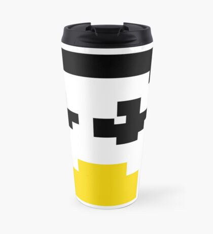 LINUX TUX PENGUIN PIXEL FACE  Travel Mug