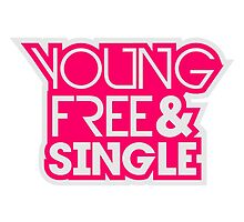 Young Free And Single Text Logo Design Pink by Style-O-Mat