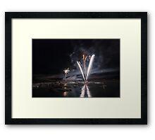 Fireworks at Glacier Lagoon #1 Framed Print