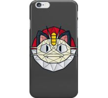 Meowth - Polygon Stainglass Collection iPhone Case/Skin