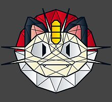Meowth - Polygon Stainglass Collection by RetroReview