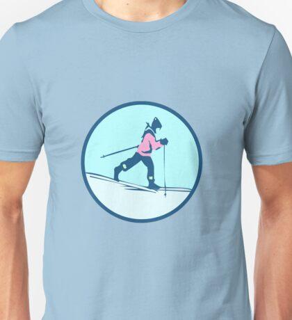 CROSS COUNTRY SKI RUNER Unisex T-Shirt