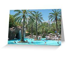 Pool at Flamingo's Hotel and Casino Greeting Card