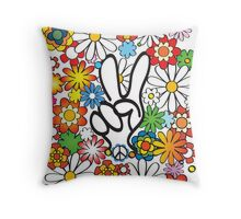 Peace, Baby! Throw Pillow
