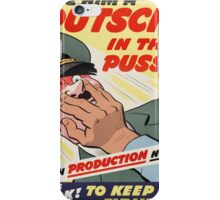 "WW2 War Poster - Vintage Propaganda Poster ""Putsch in the puss"" iPhone Case/Skin"