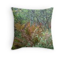 Rusting Ferns Throw Pillow