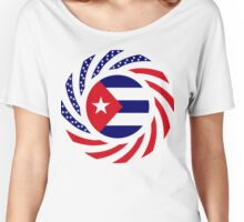 Cuban American Multinational Patriot Flag Series Women's Relaxed Fit T-Shirt