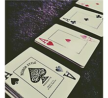 Cards Photographic Print