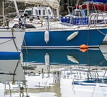 Lyme Regis Harbour Reflections 2 - April by Susie Peek