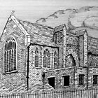 221 - ST. MARY'S CHURCH, JOHNSTOWN, NORTH WALES - DAVE EDWARDS - INK - 2009 by BLYTHART