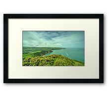 Coombe Martin Panorama Framed Print