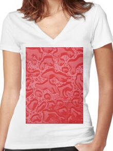 Droplets Women's Fitted V-Neck T-Shirt