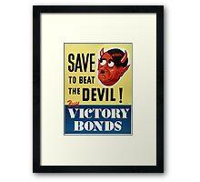 WW2 propaganda print - vintage reproduction propaganda poster - Hitler / Nazi  Framed Print