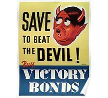 WW2 propaganda print - vintage reproduction propaganda poster - Hitler / Nazi  Poster