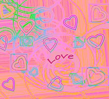 Love with hearts by RosiLorz