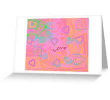 Love with hearts Greeting Card