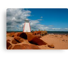 Lighthouse - Beach Point Canvas Print