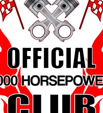 Official 1000 HP Club Sticker