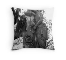 Laying on the cross Throw Pillow