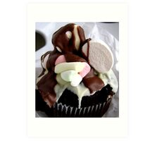 Chocolate Muffin with Marshmallows Art Print