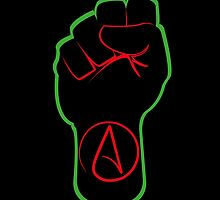 Black Atheist Power Fist  by black-atheist