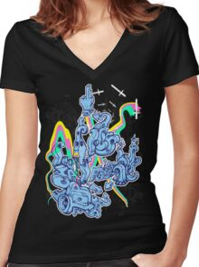 Top of Game - Colour Women's Fitted V-Neck T-Shirt