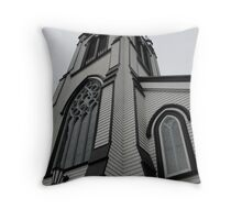 Wooden spires... Throw Pillow