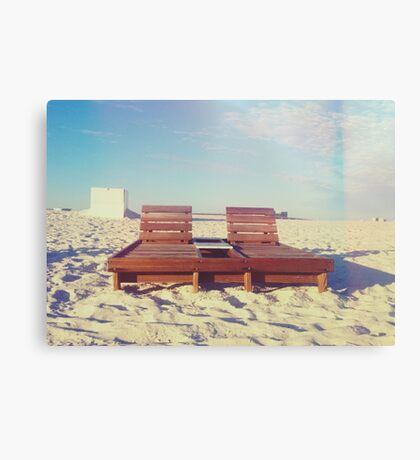Beach Chairs Canvas Print